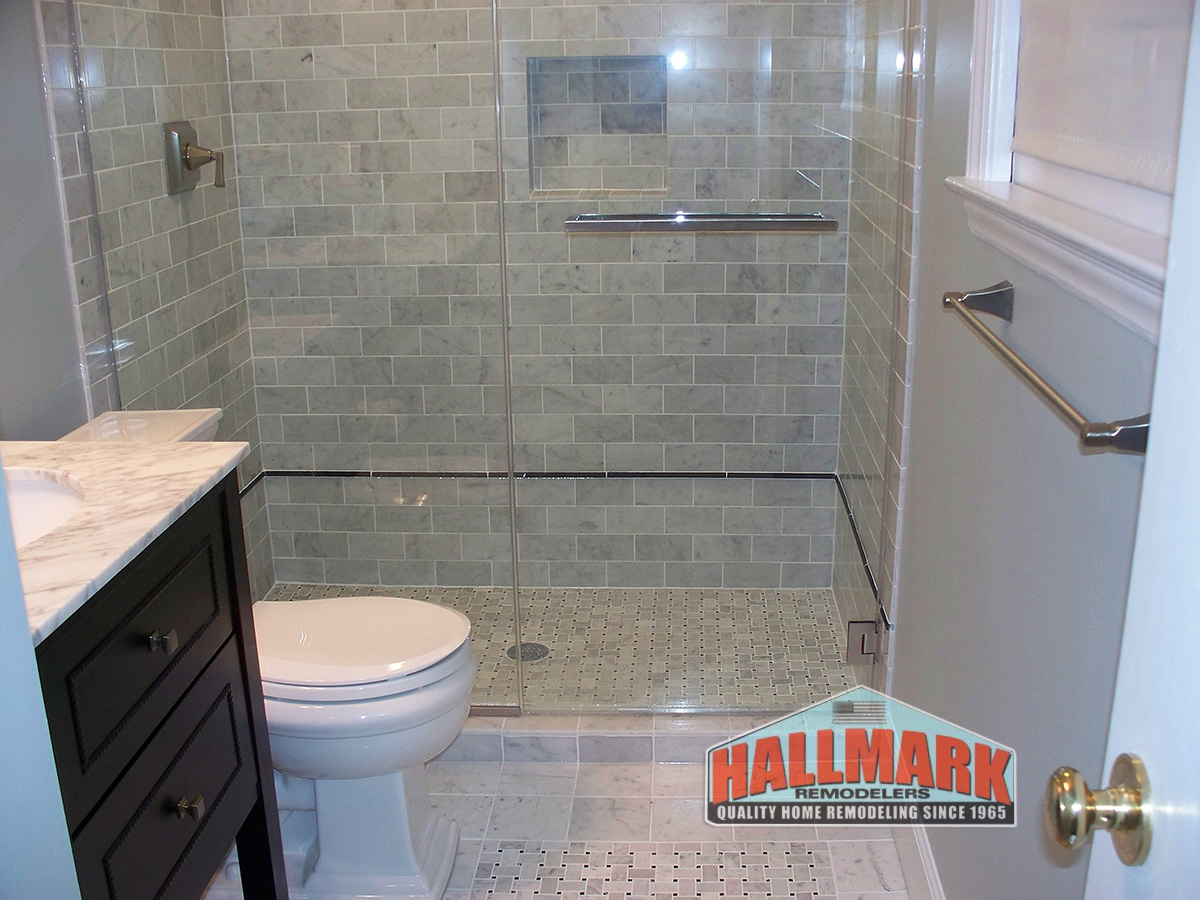 Remodeled Gray Bathrooms bathroom remodeling in bucks, montgomery county, pa & mercer